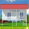 luxury prefab steel villa, 3d villa design, steel structure plans