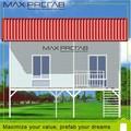 Luxe en acier préfabriqué villa, 3d conception de villa, Acier structure plans
