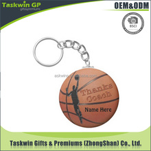 3d custom shaped plastic basketball keychain