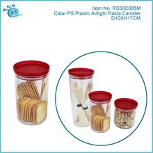 Clear Plastic Airtight Bread Bin Biscuit Tea Coffee Sugar Canister Set