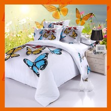 Home Textile Luxury Brand Bed Set Bedding Sets Duvet Cover Butterfly Reactive Dye