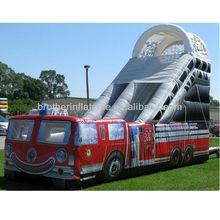SXD43 inflatable fire truck water slide
