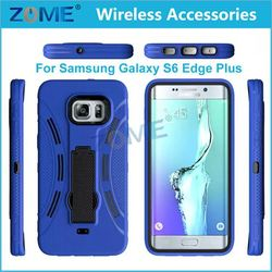 Bulk Items Customized Hybrid Dual Layer PC+ Silicone 2 in 1 Mobile Phone Case For Samsung Galaxy S6 Edge plus