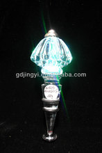 Dongguan clear Acrylic wine bottle stopper with LED lighting