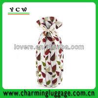 Blooming Vines Jute Sack wholesale jute wine bag
