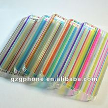 OEM printing colorful strips mobile phone case for iphone5