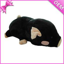 20cm Lying Black Plush Cute Pig Stuffed Animal, Plush Stuffed Pig Toys, Make Stuffed Pig