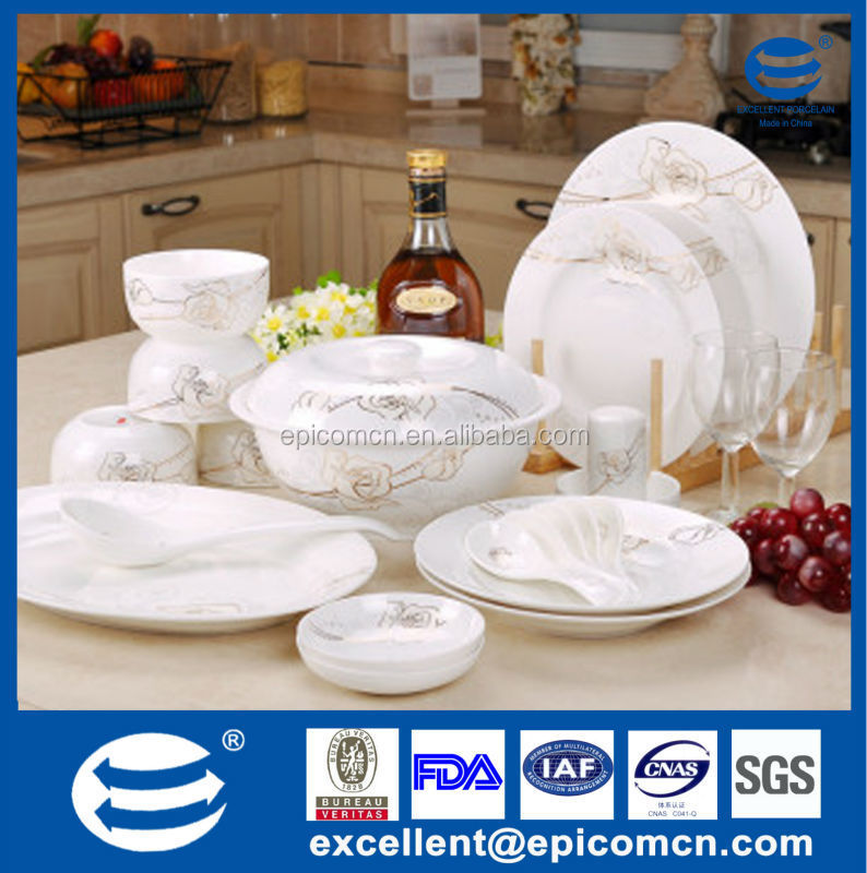 121pcs Newest Design Round Shape Fine Porcelain Dinner Set Tableware ...
