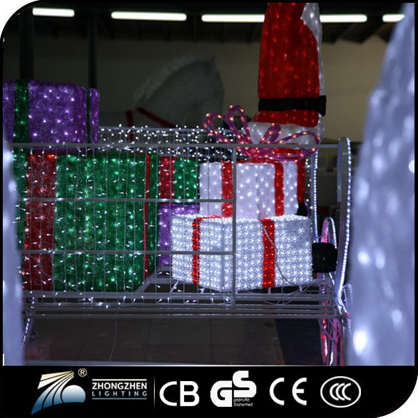 2015 hot sale indoor outdoor crystal santa claus for Indoor christmas decorations sale