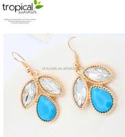 E1305 Wholesale Fashion Fashion Earrings Women Earring Ladies Earring Designs Pictures Gold Jewelry Resin Earrings FREE SHI