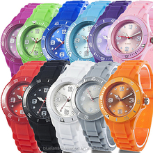 Classic Stylish Colorful Silicon Jelly Strap Ladies Men's Wrist Watch