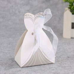Groom and bride wedding candy dress shaped box