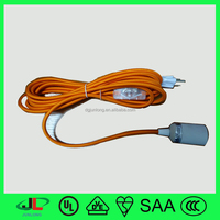 High quality color textile wire UL approved 3 pin plug and electric wire switch with color code sizes electric wire