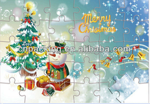 hot sale and very useful Christmas paper puzzle games for kids IQ stimulation