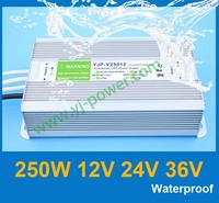 (YJP-V25012) dc 12v high voltage input led power supply 12volt output 250w switching power supply, CE RoHS IP67 certification