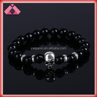 Religious Design Men Stretch Buddha Skull Head Bead Bracelets-QXBR15395