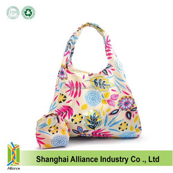 Compact Eco Reusable Folding Up Pouch Shopping Tote Bag