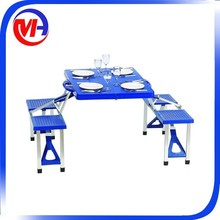Outdoor folding picnic table and chairs