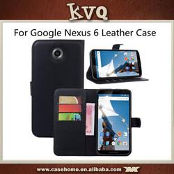 For Google Nexus 6 Flip Leather Wallet Case for MOTO Nexus 6