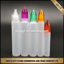 10ml plastic unicorn dropper bottle with screw cap for smoking oil/nicotine oil