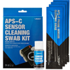 Cleanroom sensor cleaning swabs kit for Canon Nikon Sony APS-C frame cameras