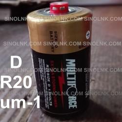 PVC Jacket R20 um-1 SIZE D 1.5V dry cells Battery multiforce carbon zinc Battery