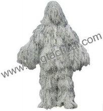 Militar ghillie traje de nieve, traje de caza
