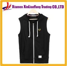 Wholesale Lightweight Hoodie Sportswear Mens Design Sleeveless Hoodie