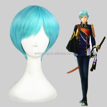 High Quality 30cm Short Light Blue Wigs Touken Ranbu Online Ichigohitofuri Synthetic Anime Cosplay Wig