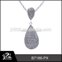 Wholesale Snake Shaped Micro Pave 2015 crystal angel pendant angel wing necklace