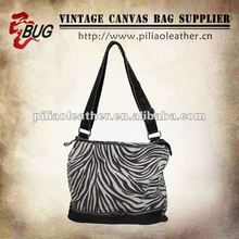 Zebra Veins Canvas Handbag
