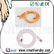 Best price thin flexible Cat7 network Flat lan cable