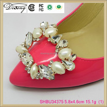 SHBU34375 Pretty Little Wedding Shoe Clips Fun Affordable Bridal Accessories Pearls