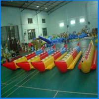 hot sale water game inflatable banana boat,8 seats inflatable boat