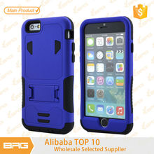 BRG Hybrid PC Rubber Case with Stand For Cell Phone Case, For iPhone 6 Case