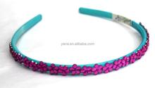 2015 hair accessories for women, headband holder, crystal stone head band
