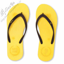 2012 new mould flat 15mm beach flip flop for lady