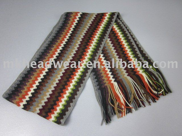 Vertical Striped Scarf Knitting Pattern : machine knitted vertical stripes scarf, View striped machine knitted scarf, e...