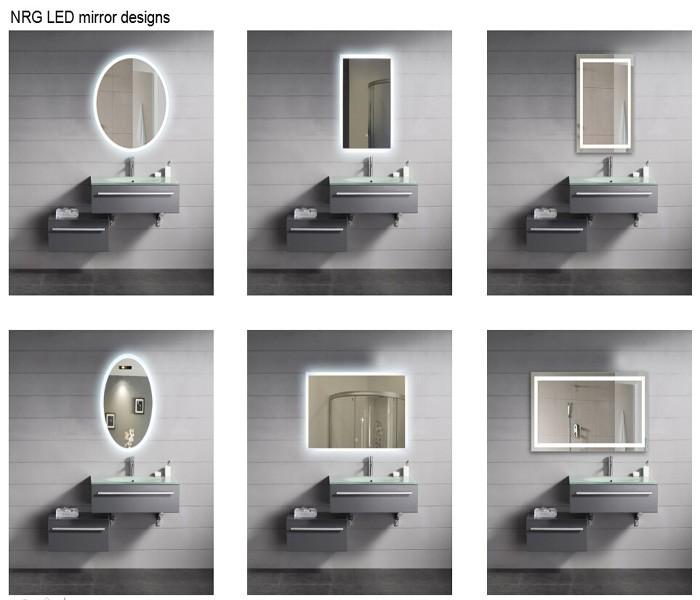 Infini lumi re miroir mirroir de salle de bain id de for Miroir infini