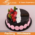 Venta caliente escaparate panadería barato de alta calidad hermoso fruto Bosque Negro linda torta falsa
