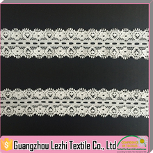 Hot Sale Jacquard White Nylon/Cotton Stretch Elastic Lace Trim, Lace Trimming For Underwear For Lingeria