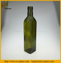 50CL Square dark green glass olive oil bottle