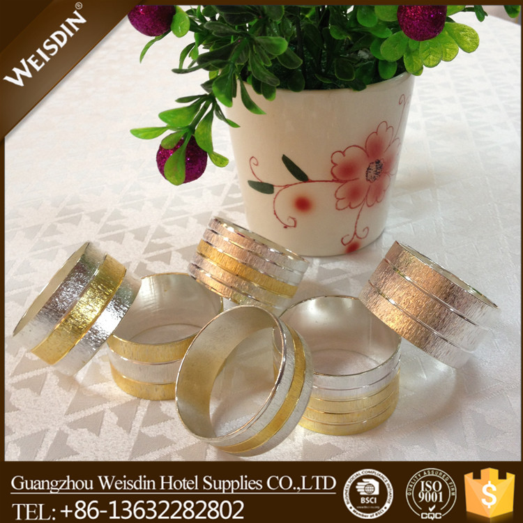 bulk wholesale 25mm christmas wedding gold metal napkin ring holder