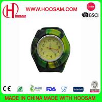 Custom Slap Silicone Watch with printed logo/Silicone slap bracelet watch