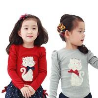 Baby Clothing 100% Cotton Kids T Shirt lLong Sleeve China Export Clothes
