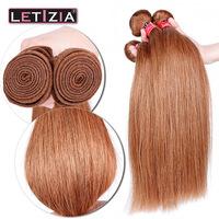Wholesale grade 5a 100% peruvian human hair weave #30 color