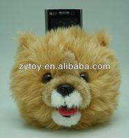 Cute animal shaped plush phone holder