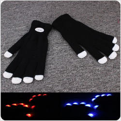 Low Price LED Light Up Gloves For Christmas Party Use Led Glove