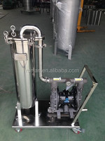 water treatment equipment stainless steel trolley bag filter series