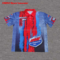 whlesale cheap motorcycle wear racing team pit crew shirt